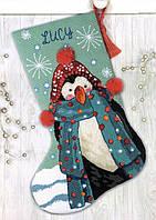 """Набір для вишивання гобеленом """"Fuzzy Penguin//Пінгвін"""" DIMENSIONS 71-09160"""