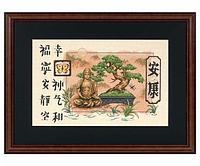 """Набір для вишивання хрестом """"Бонсай і Будда//Bonsai and Buddha"""" DIMENSIONS 35085"""
