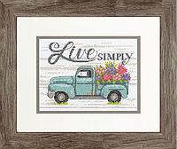 """Набір для вишивання хрестом """"Flower Truck//Квітковий вантажівка"""" DIMENSIONS 70-65211"""