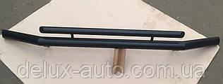 Защита переднего бампера Труба двойная крашенная Передний радиус D60-42 Дуга черная на Lexus GX 470 2003-2010