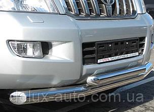 Защита переднего бампера Труба двойная из нержавейки Передний радиус D70-54 Дуга на Lexus GX 470 2003-2010