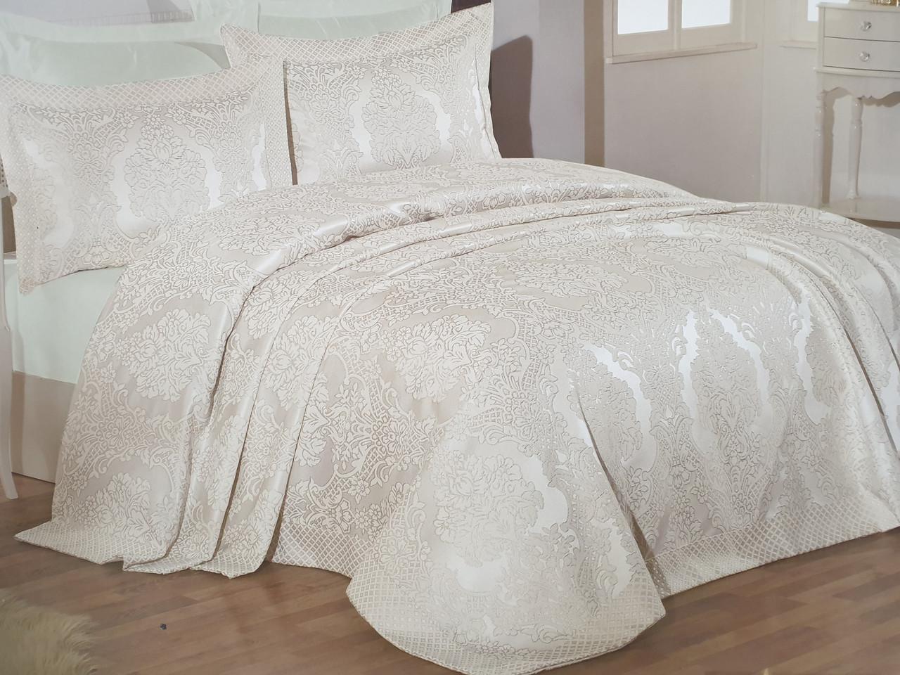 Жакардові покривало на ліжко Gardine's simao bej