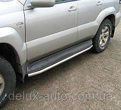 Пороги Защита штатного порога Боковые пороги D42 Подножки на Lexus GX 470 2003-2010