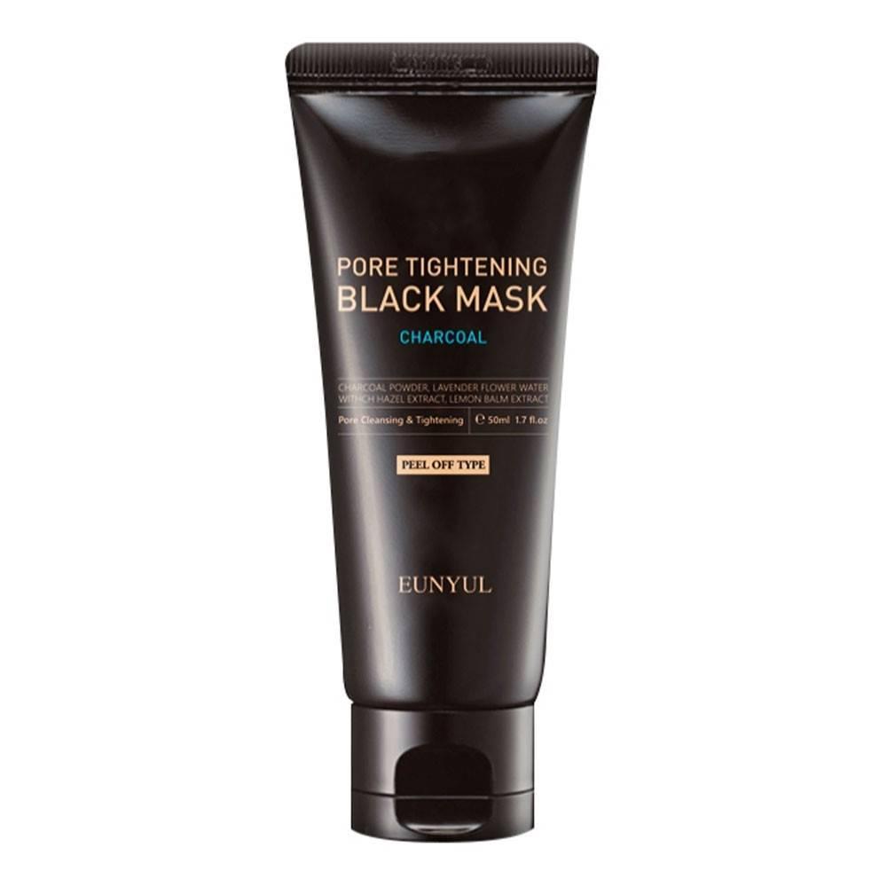 Маска з вугіллям для очищення та звуження пор Eunyul Charcoal Pore Tightening Black Mask 100 г (8809435404504)