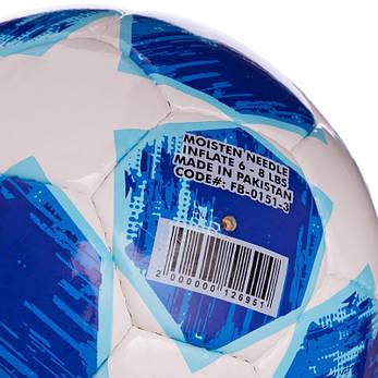 Футбольний м'яч №5 PU CHAMPIONS LEAGUE біло-синій FB-0151-3, фото 2