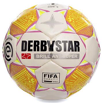 М'яч футбольний розмір 5 PU ламін. DERBYSTAR BRILLIANT SUPER FB-2187, фото 2