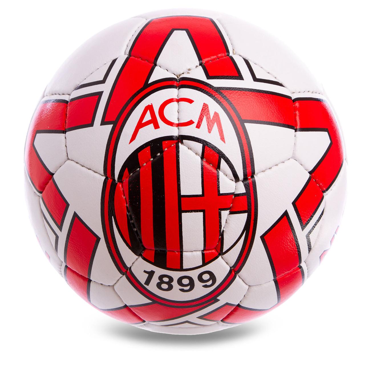 Мяч футбольный спортивный №5 AC MILAN FB-0598