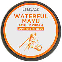 Зволожуючий крем для обличчя з кінською олією Lebelage Ampule Cream Waterful Mayu 70 мл (8809317111643), фото 4