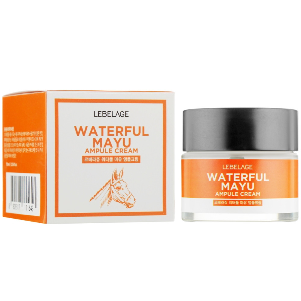 Зволожуючий крем для обличчя з кінською олією Lebelage Ampule Cream Waterful Mayu 70 мл (8809317111643)