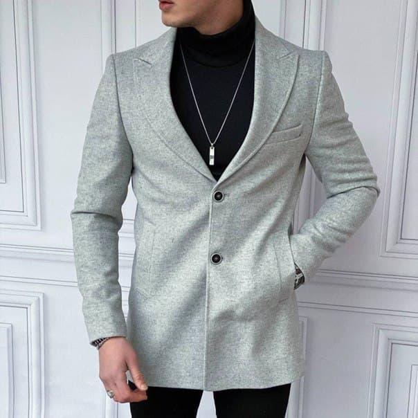 Сіре чоловіче пальто Туреччина