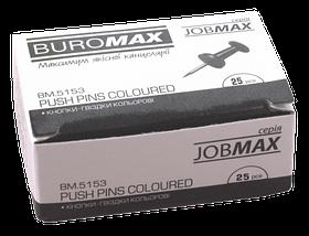 Кнопки-цвяшки, кольор. JOBMAX, 25шт.
