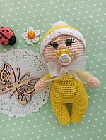 Кукла, Пупс, Вязаная кукла, вязаная игрушка, мягкая кукла, ручная работа