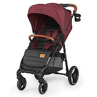 Детская прогулочная коляска Kinderkraft Grande 2020 Burgundy (Киндеркрафт)