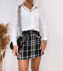 Жіноча біла сорочка (Батал)