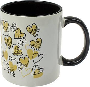 """Чашка керам. 320мл """"Love.Love"""" кругова деколь №75000705/Галерея/(12)"""