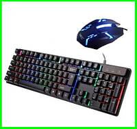 Клавиатура + Мышь с Подсветкой Набор Для Компьютеров и Ноутбуков