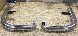 Защита заднего бампера уголкиодинарные Задние углы нержавейка Защитные уголки D60 на УАЗ PATRIOT 2005-2014