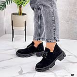 Туфли женские демисезонные черные натуральная замша, фото 2