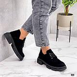 Туфли женские демисезонные черные натуральная замша, фото 4