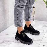 Туфли женские демисезонные черные натуральная замша, фото 3