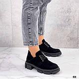 Туфли женские демисезонные черные натуральная замша, фото 7