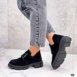 Туфли женские демисезонные черные натуральная замша, фото 5