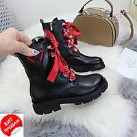 Женские черные ботинки AESD р36-41(код 4300-00)