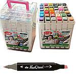 Скетч-маркери - Двосторонні в наборі, 777-36, 36 кольорів, фото 2