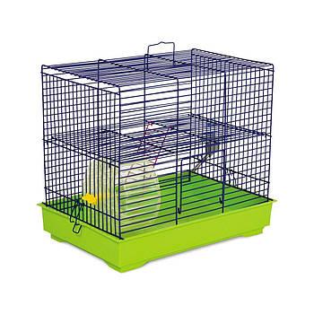 Клетка МИККИ С КОЛЕСОМ для мелких декоративных грызунов, 37х28х30 см