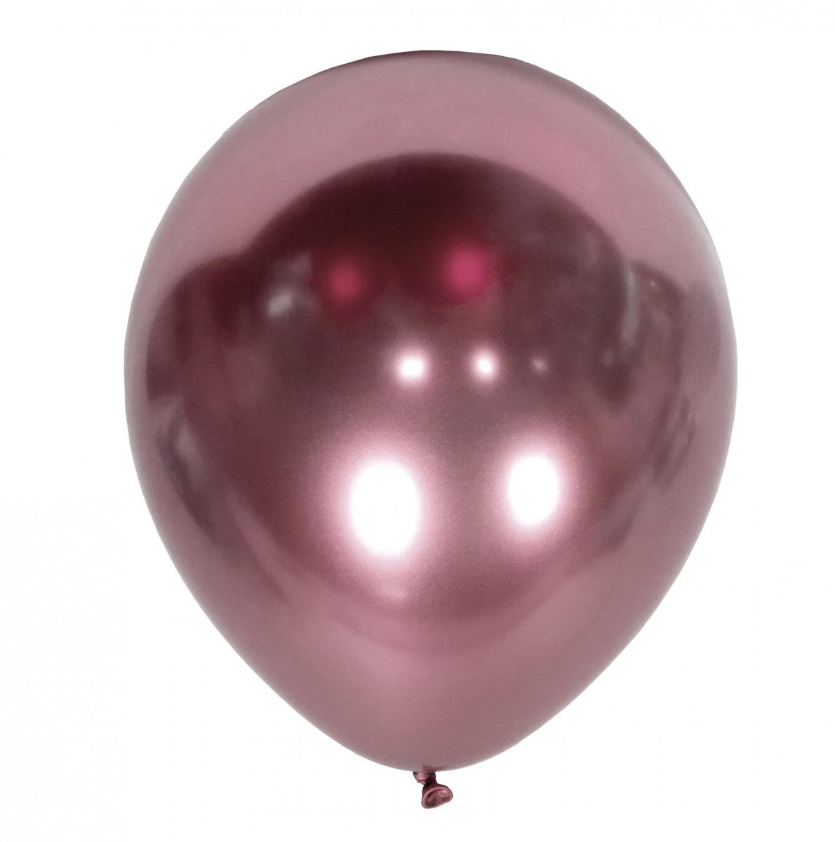 """KL 12"""" Хром Mirror Pink. Шары воздушные латексные хром розовый"""