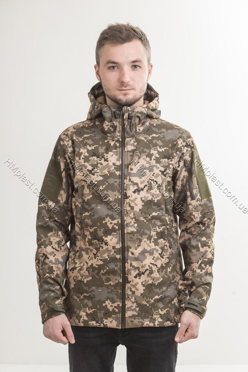 Куртка тактична демісезонна SoftShell Піксель