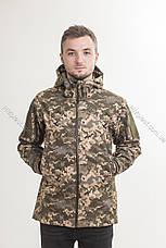 Куртка тактична демісезонна SoftShell Піксель, фото 2