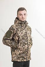 Куртка тактична демісезонна SoftShell Піксель, фото 3
