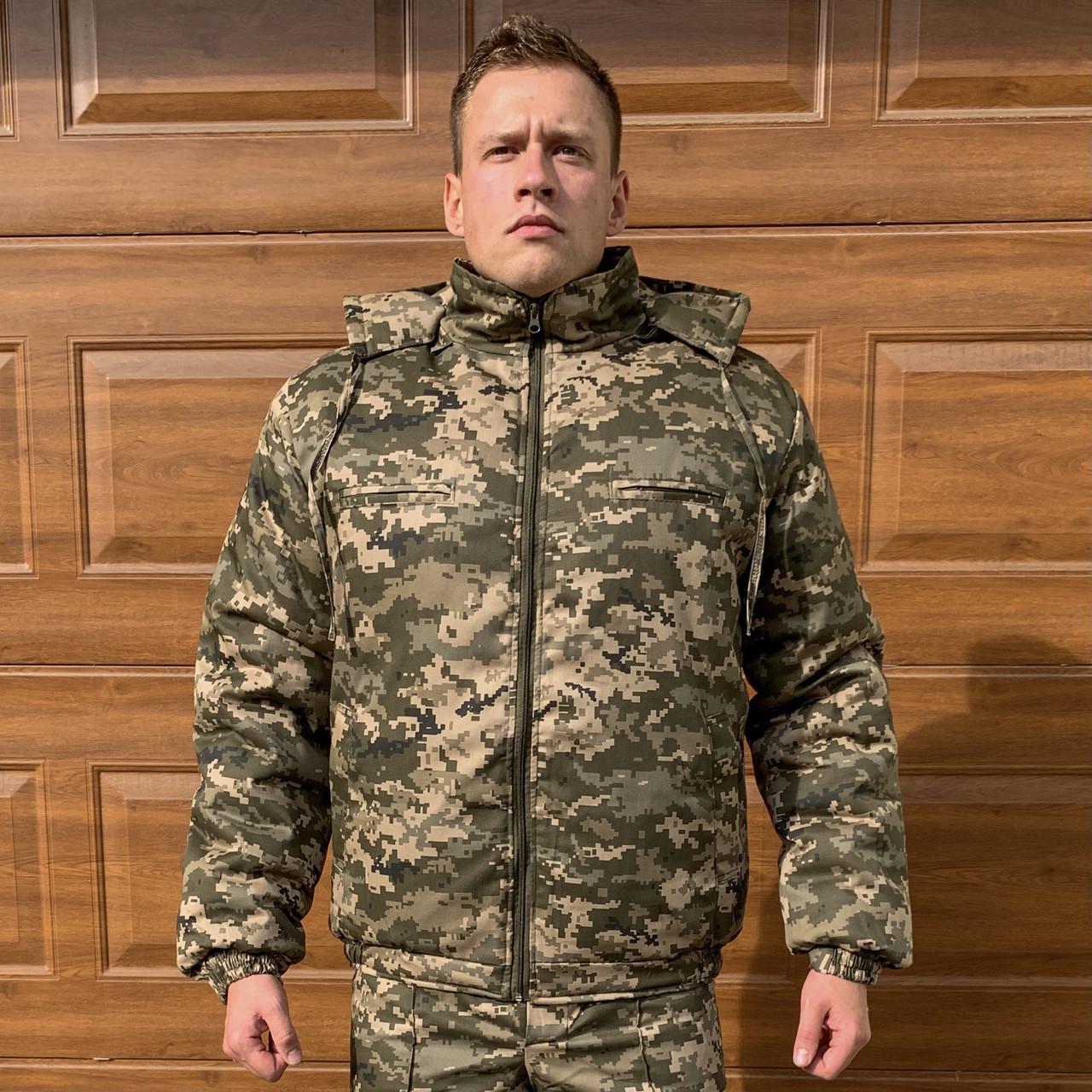 Куртка зимняя ЗСУ пиксель флис