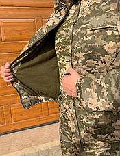 Куртка зимняя ЗСУ пиксель флис, фото 3