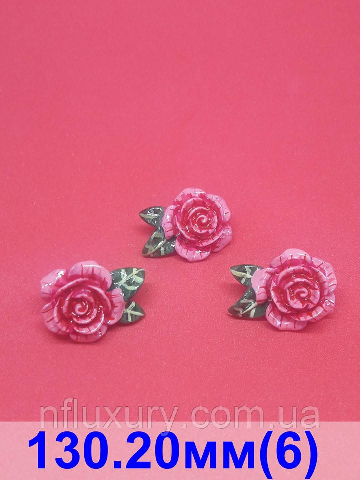 Пуговицы Dolce & Gabbana  в виде розы , фарфор, диаметром 22 мм