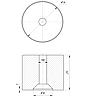 ODF-06-30-02-L30 Дистанція 30 мм для коннектора діаметром 34 мм з різьбою М8, полірований, фото 2