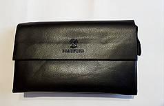 Мужская барсетка клатч с плечевым ремнем черная эко кожа 23*15 Bradford 886-9