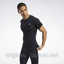Мужская компрессионная футболка Reebok Workout Ready черная FP9118 2021/D