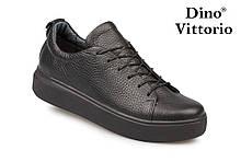 Чорні жіночі кеди/кріпери натуральна шкіра Dino Vittorio