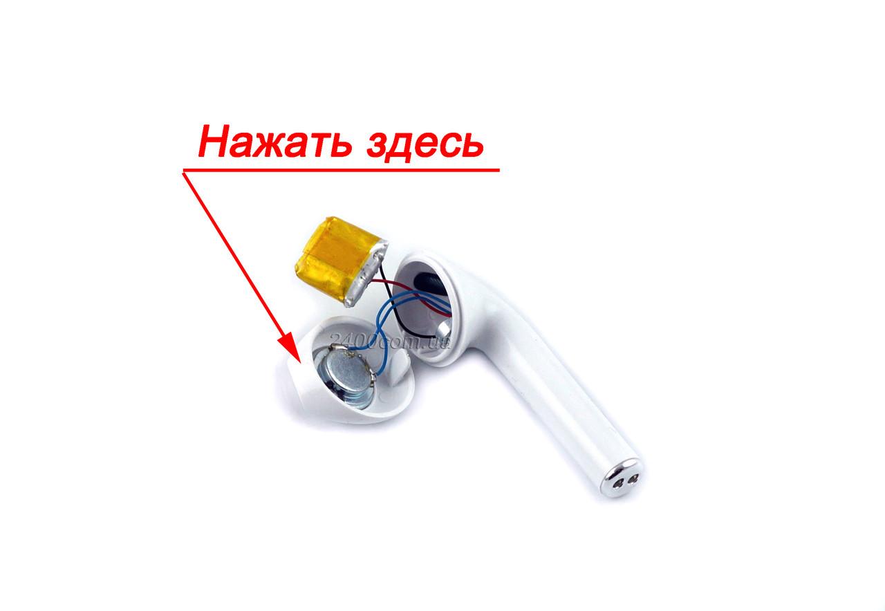 батарейка для блютуз навушників jbl/tws - вид в зборі