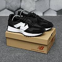Мужские кроссовки New Balance 327 Black  \ Нью Беленс 327 Черные \ Чоловічі кросівки Нью Беленс 327 Чорні