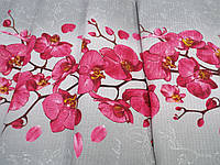 Тканина Вафельна Ширина 50 см. Орхідея На Сірому, фото 1