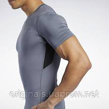 Мужская спортивная футболка Reebok Wor Ss Comp FP9119 2021/D, фото 3
