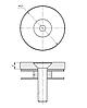 ODF-06-33-02 Притискної коннектор круглий діаметром 40мм, М8, під гвинт, полірований, фото 2