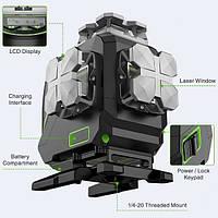 Лазерний рівень 4D Huepar S04CG /  пульт /  Bluetooth Продаж тільки м Рівне, фото 1