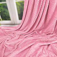 Покрывало велюровое бамбук (розовое) 200х230 см