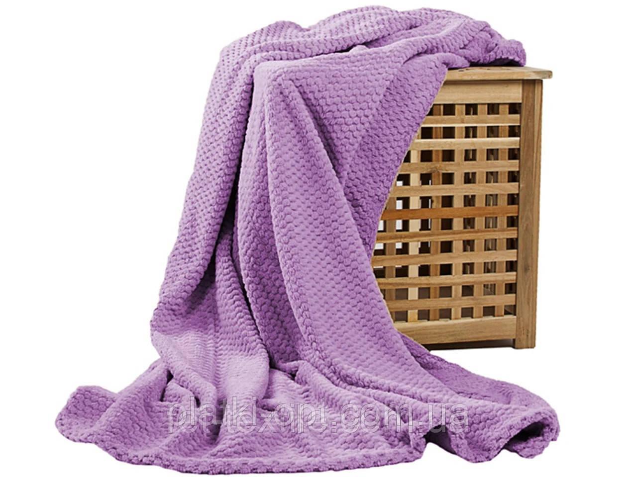 Покрывало велюровое бамбук (сиреневое) 200х230 см