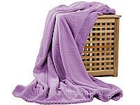 Покрывало велюровое бамбук (сиреневое) 200х230 см, фото 1