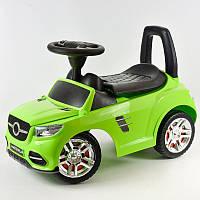 Машинка-каталка толокар, детская машинка с электроникой, 2-002-LG, зеленая